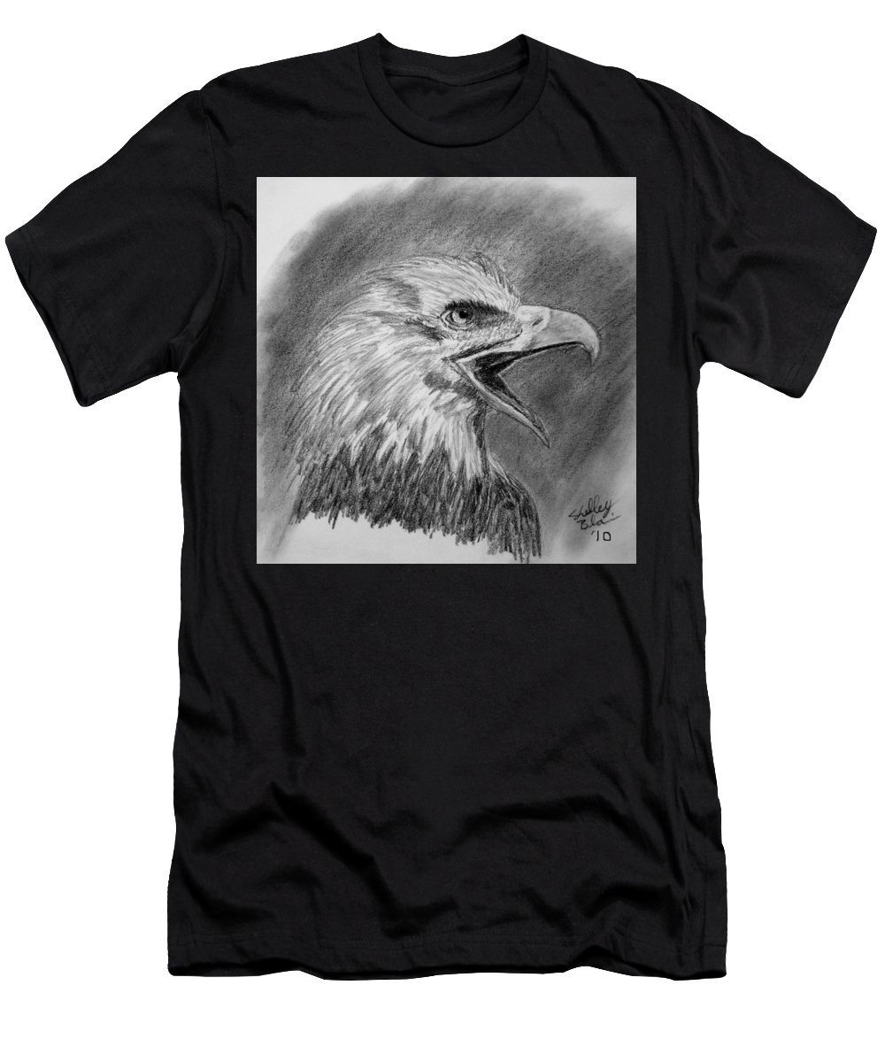 Eagle Men's T-Shirt (Athletic Fit) featuring the digital art Fading Cry by Shelley Blair