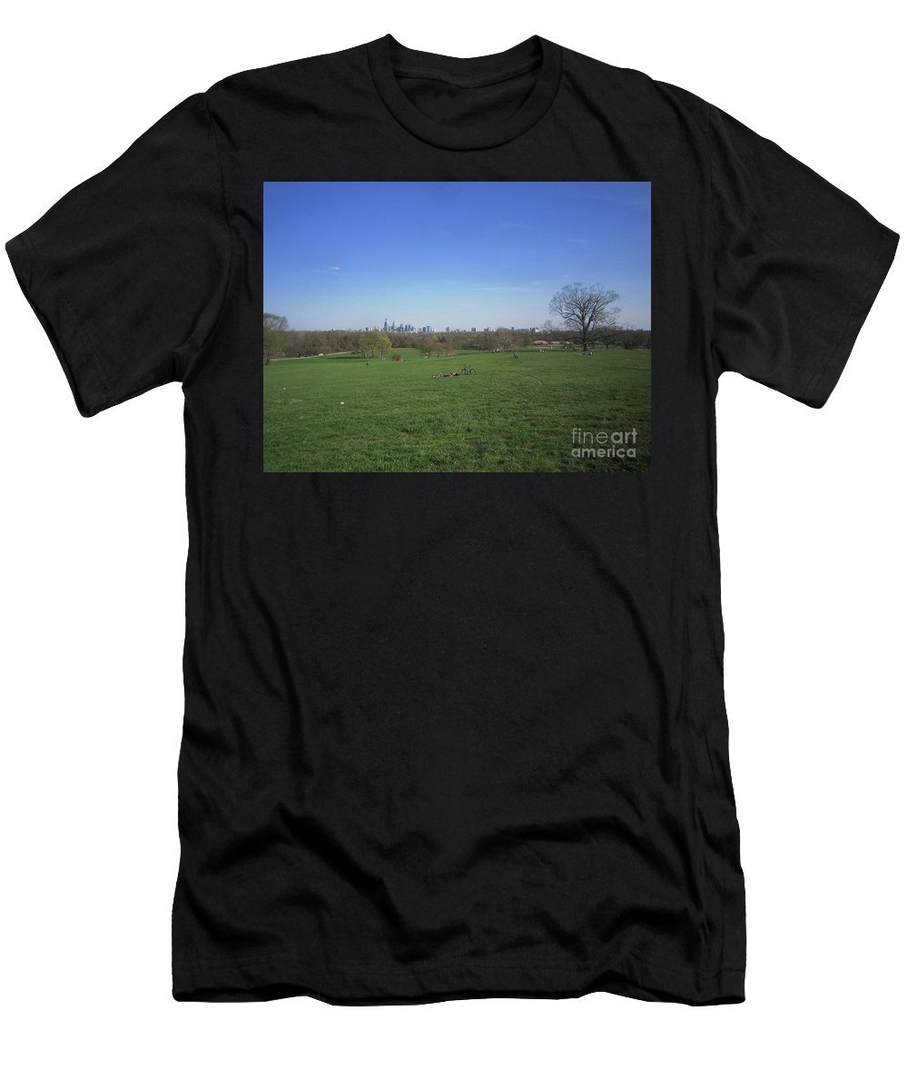 Philadelphia Men's T-Shirt (Athletic Fit) featuring the photograph Fair Meadows by Clay Cofer