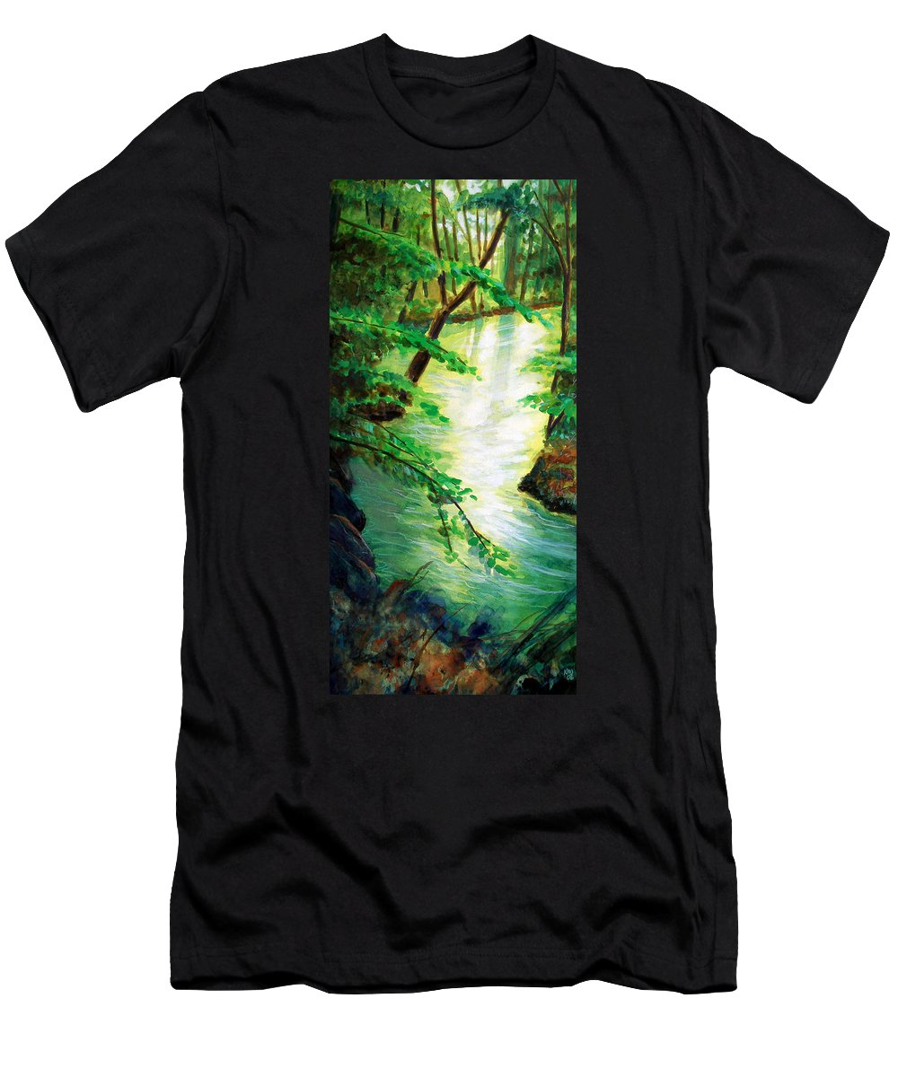 Forest Men's T-Shirt (Athletic Fit) featuring the painting Fairfax Summer by Ken Meyer