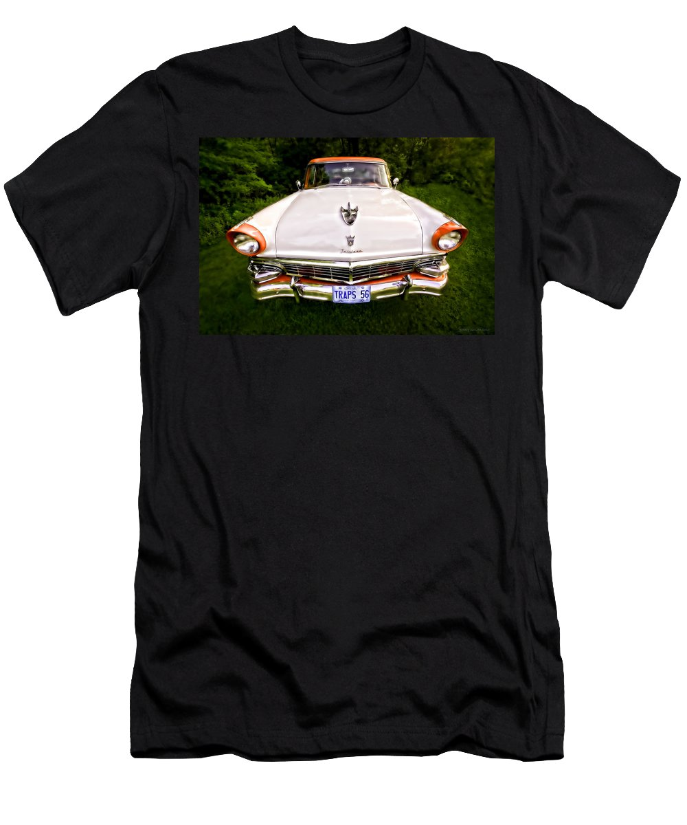 Transportation Men's T-Shirt (Athletic Fit) featuring the photograph Fairlane by Jerry Golab
