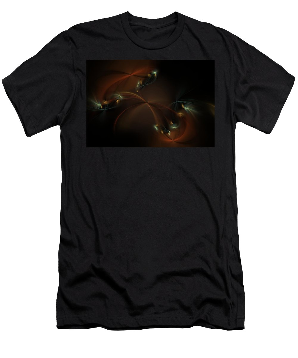 Fantasy Men's T-Shirt (Athletic Fit) featuring the digital art Fairy Circle by David Lane