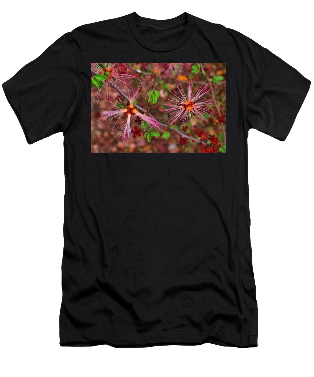 Fairy Duster Men's T-Shirt (Athletic Fit) featuring the photograph Fairy Duster by Kathryn Meyer