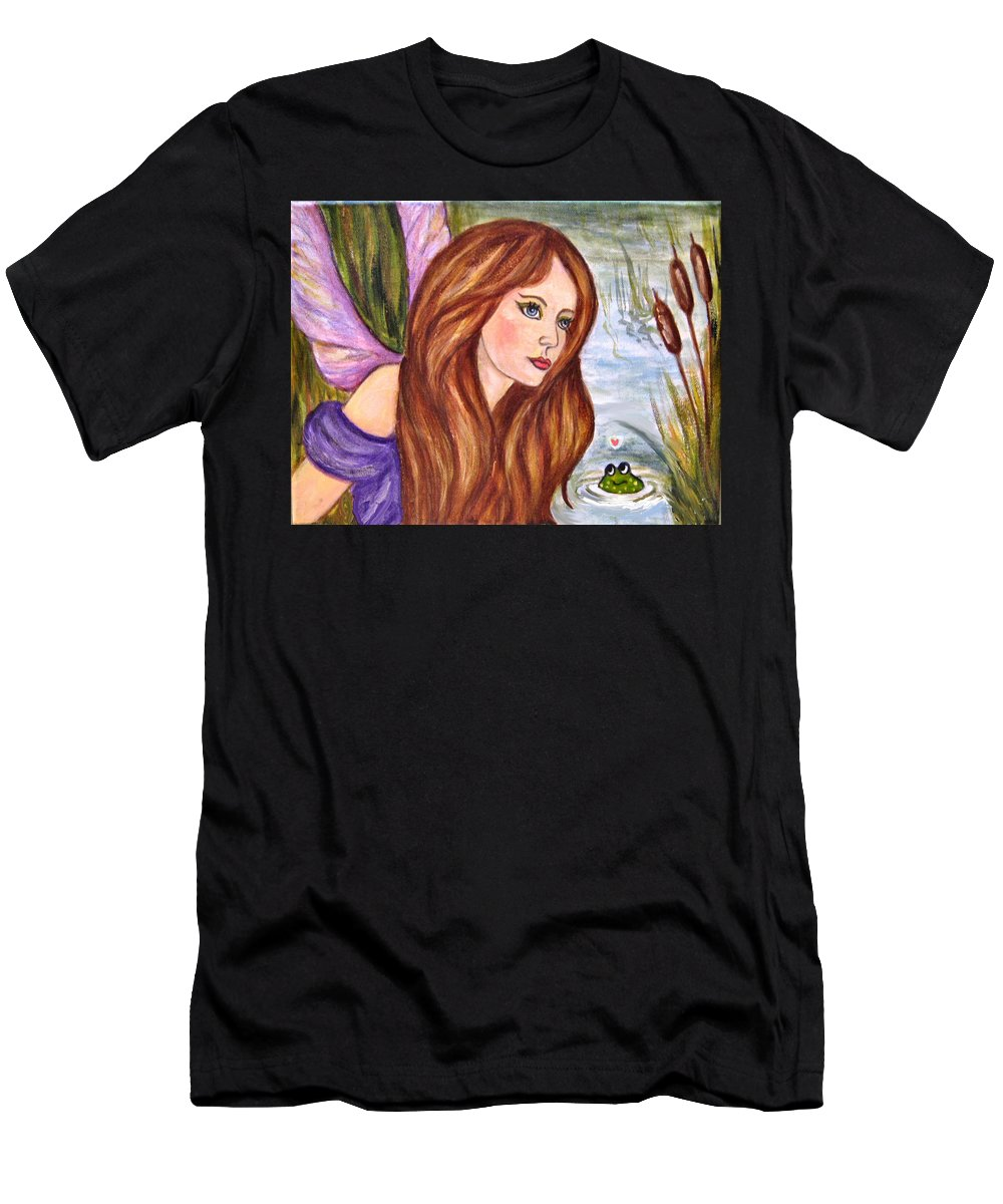 Swamp Fairy Men's T-Shirt (Athletic Fit) featuring the painting Fairy by Frances Gillotti