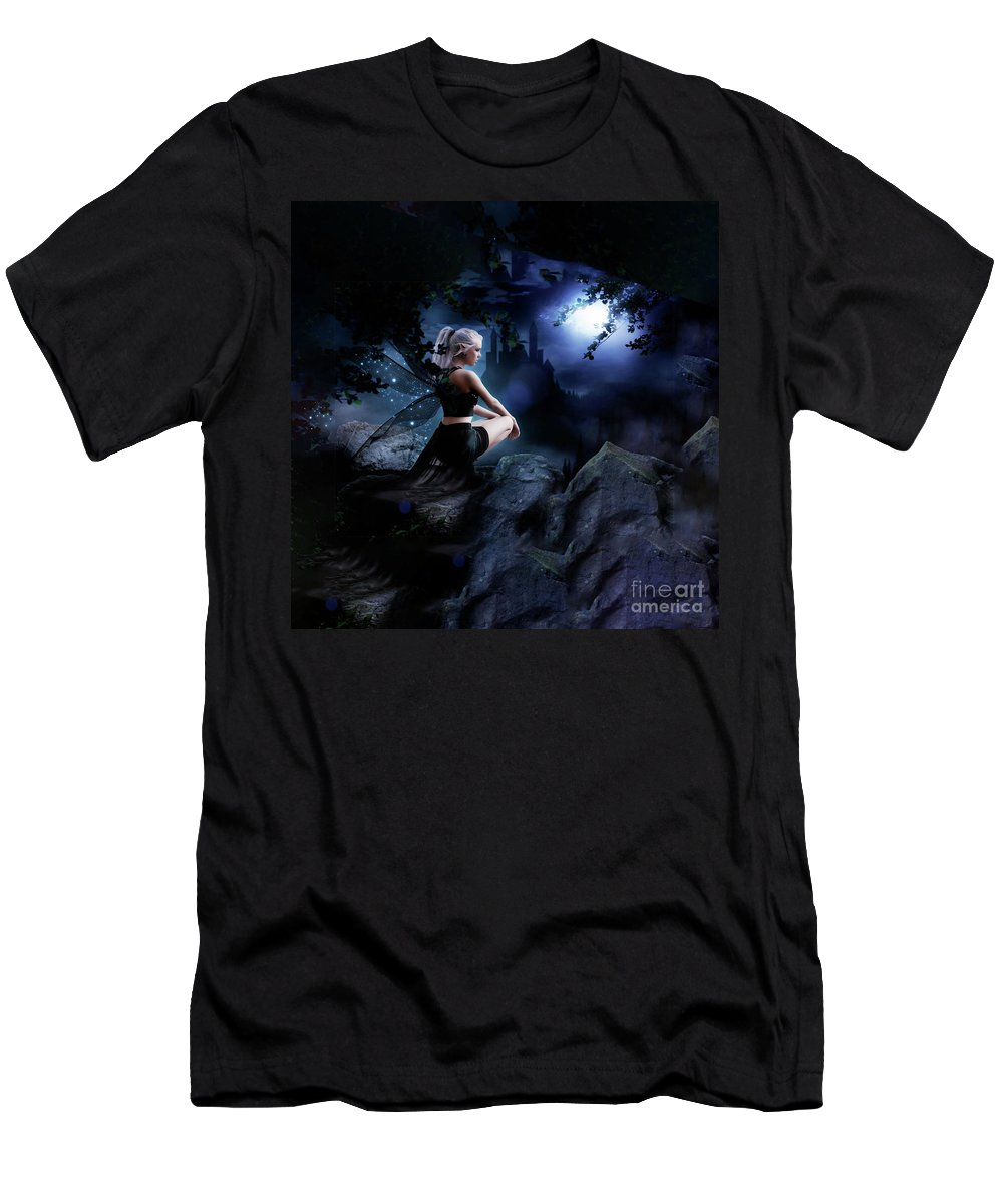 Fairy Men's T-Shirt (Athletic Fit) featuring the digital art Fairy by Ingenuity Design