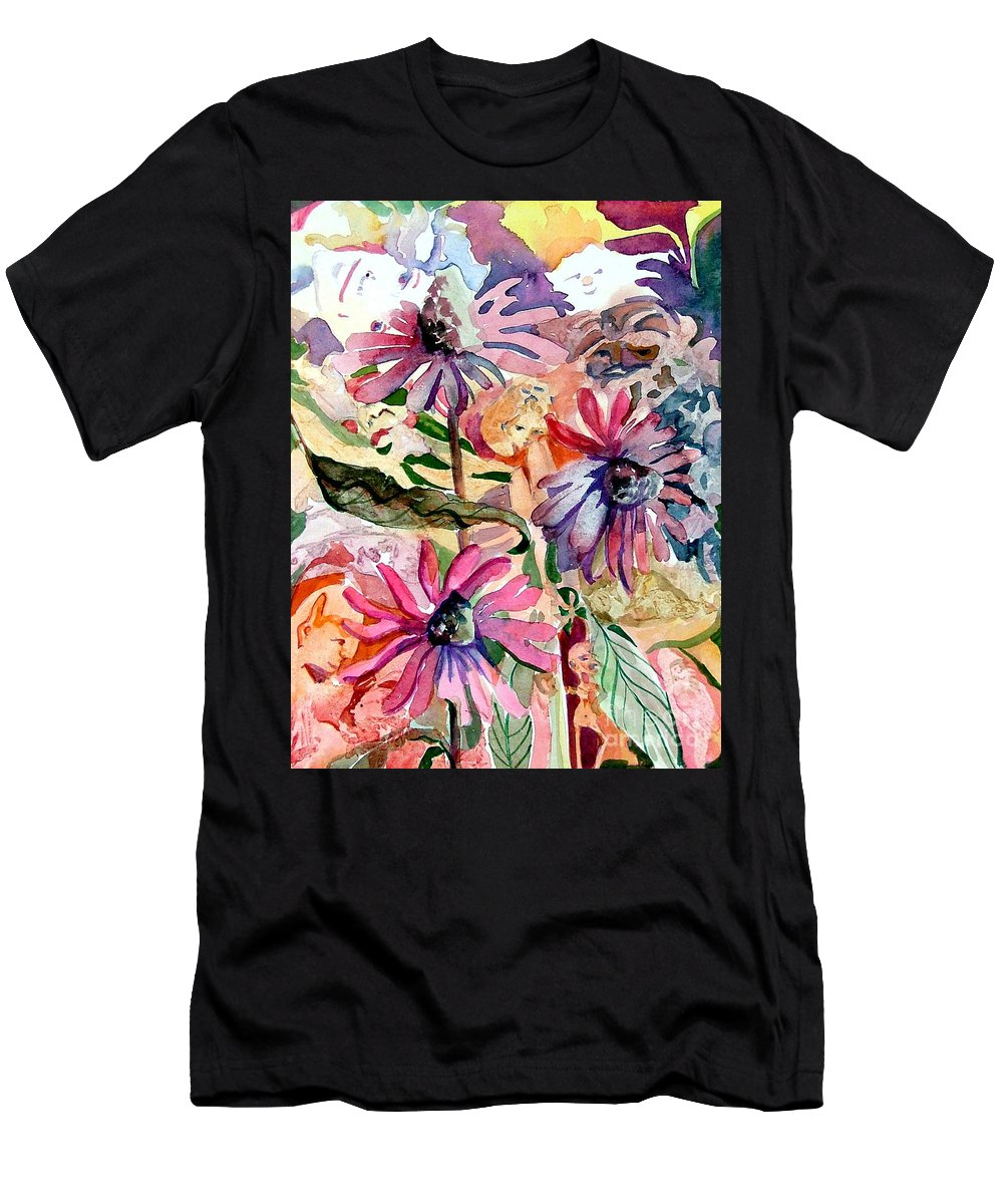 Daisy Men's T-Shirt (Athletic Fit) featuring the painting Fairy Land by Mindy Newman