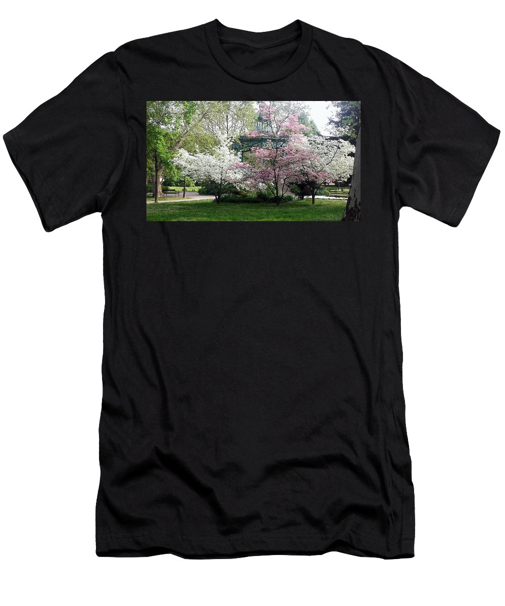 Spring Men's T-Shirt (Athletic Fit) featuring the photograph Fairytale Pavilion by Vesna Martinjak