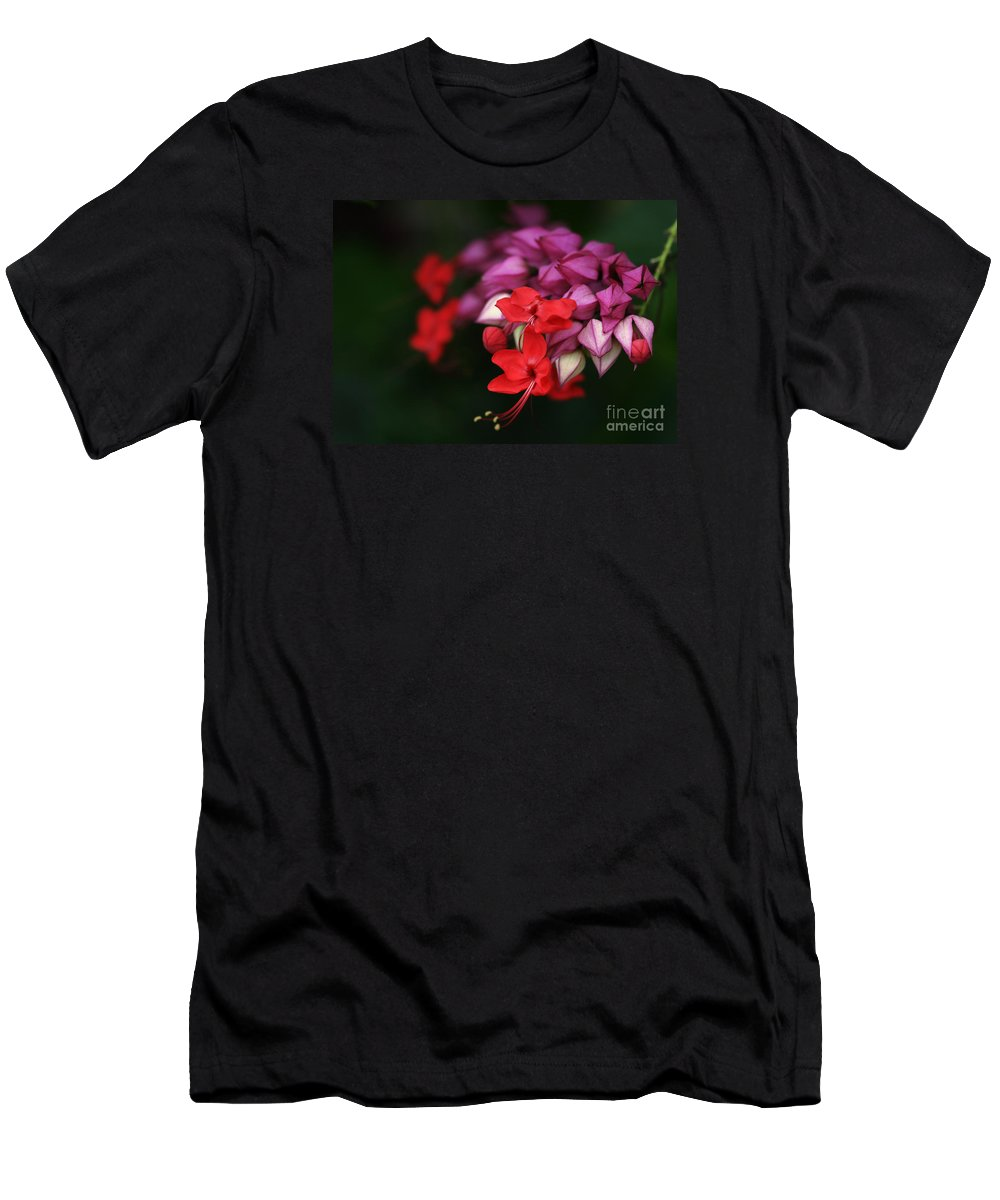Flower Men's T-Shirt (Athletic Fit) featuring the photograph Faith Holds Fast by Linda Shafer