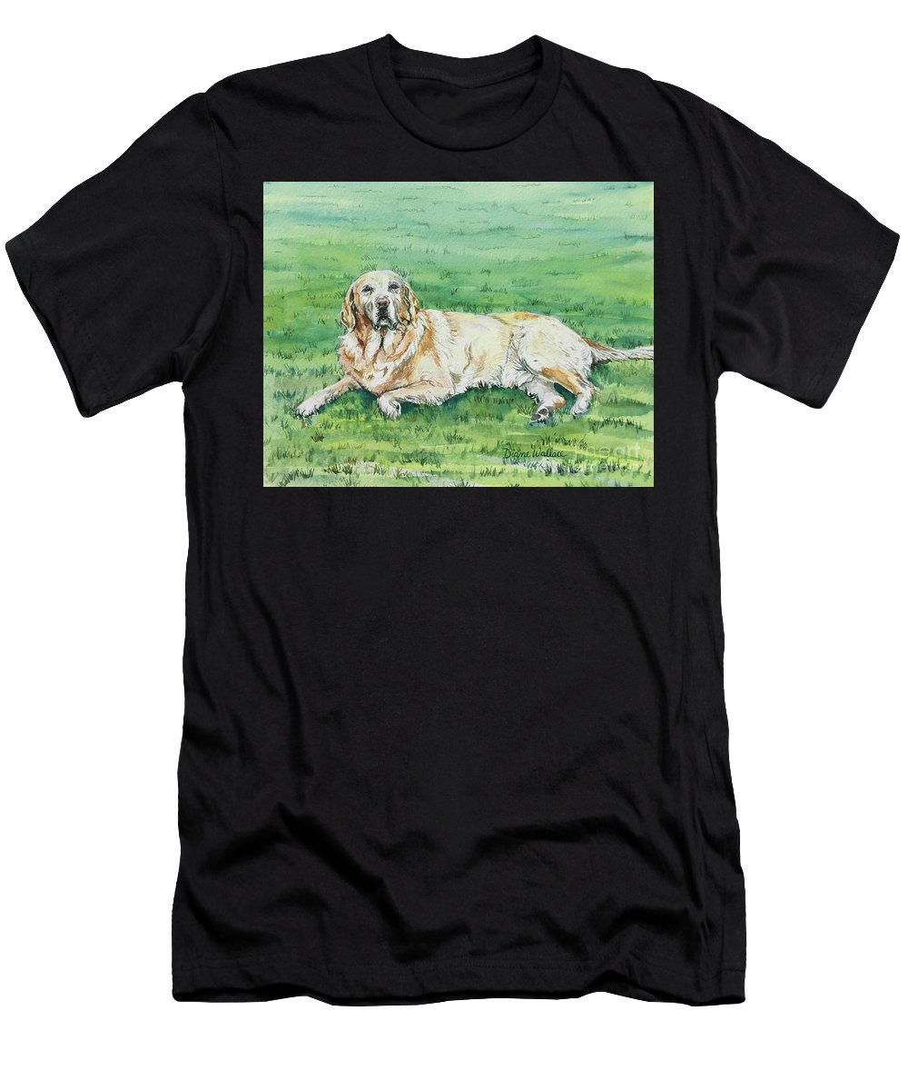 Labrador Retriever Men's T-Shirt (Athletic Fit) featuring the painting Faithful by Diane Wallace
