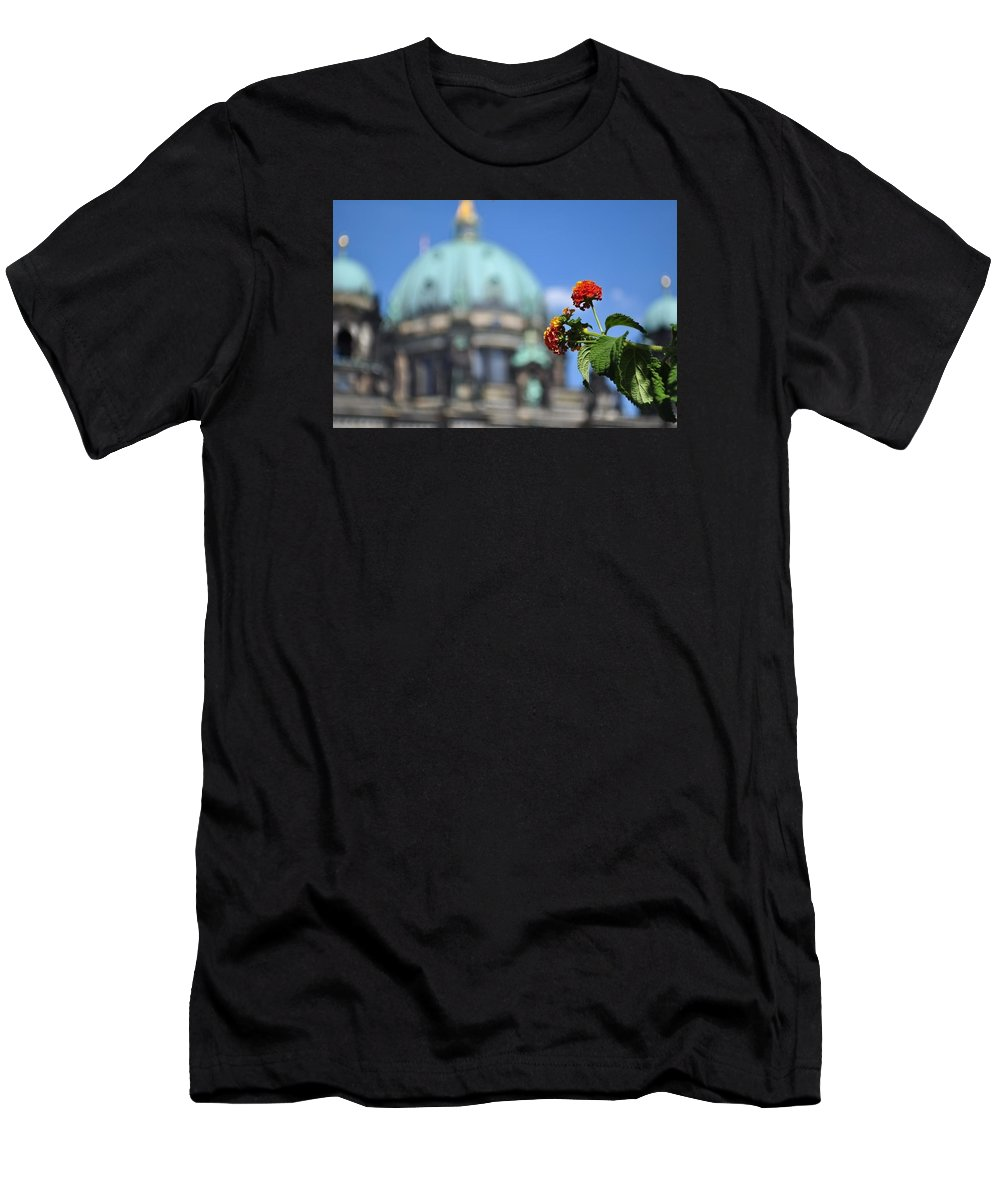 Flowers Men's T-Shirt (Athletic Fit) featuring the photograph Faithful Flower by Mandy Wilson