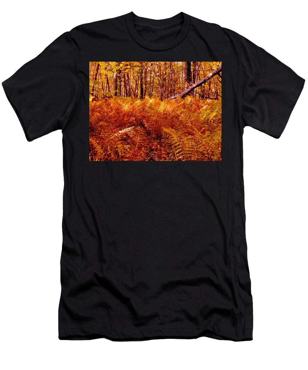 Autumn Men's T-Shirt (Athletic Fit) featuring the photograph Fall Color In The Woods by Arlane Crump