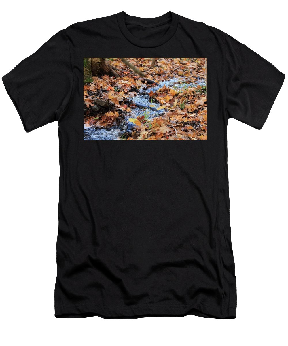 Men's T-Shirt (Athletic Fit) featuring the photograph Fall Creek by Sandy Vyse