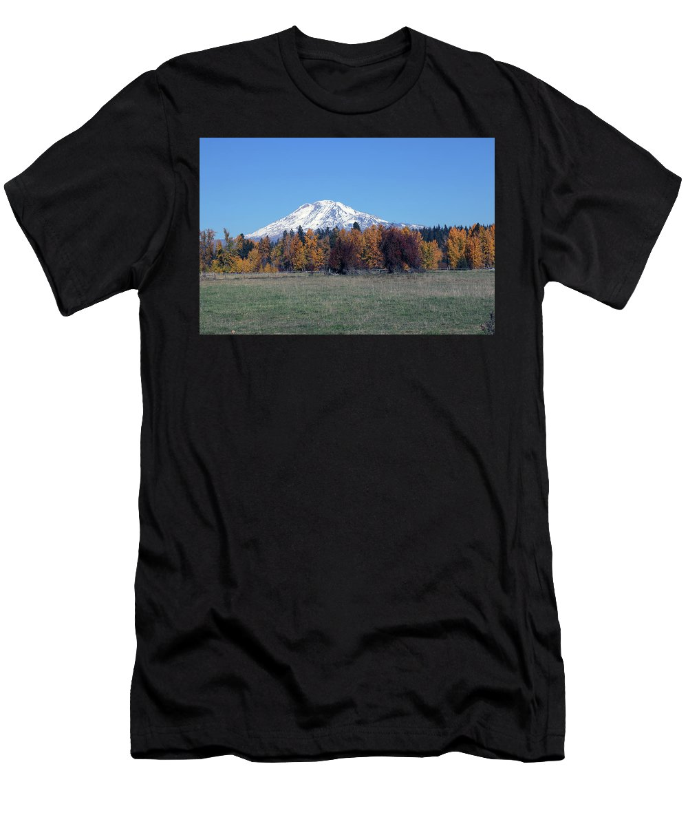 Mount Adams Men's T-Shirt (Athletic Fit) featuring the photograph Fall Foliage by Mary Masters