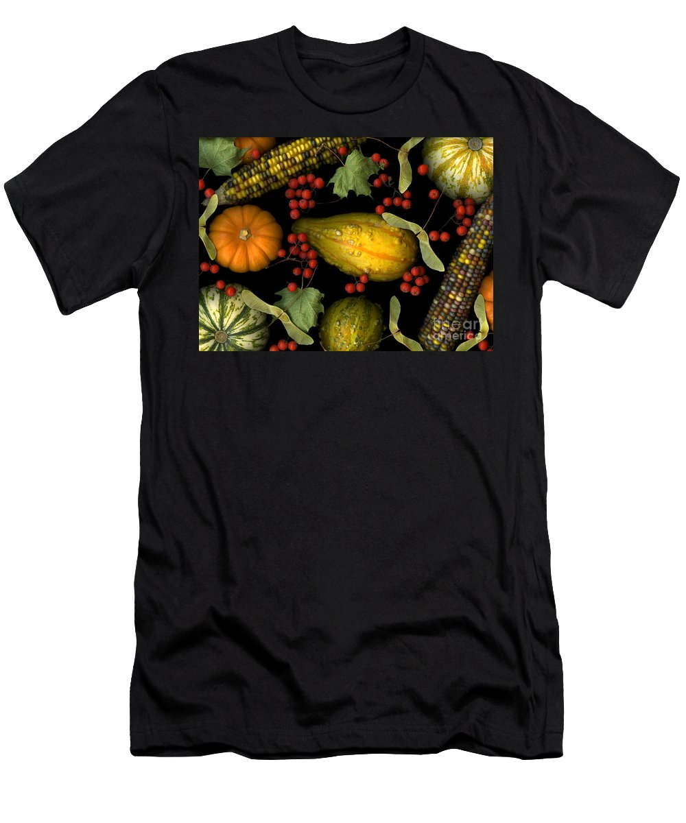 Slanec Men's T-Shirt (Athletic Fit) featuring the photograph Fall Harvest by Christian Slanec