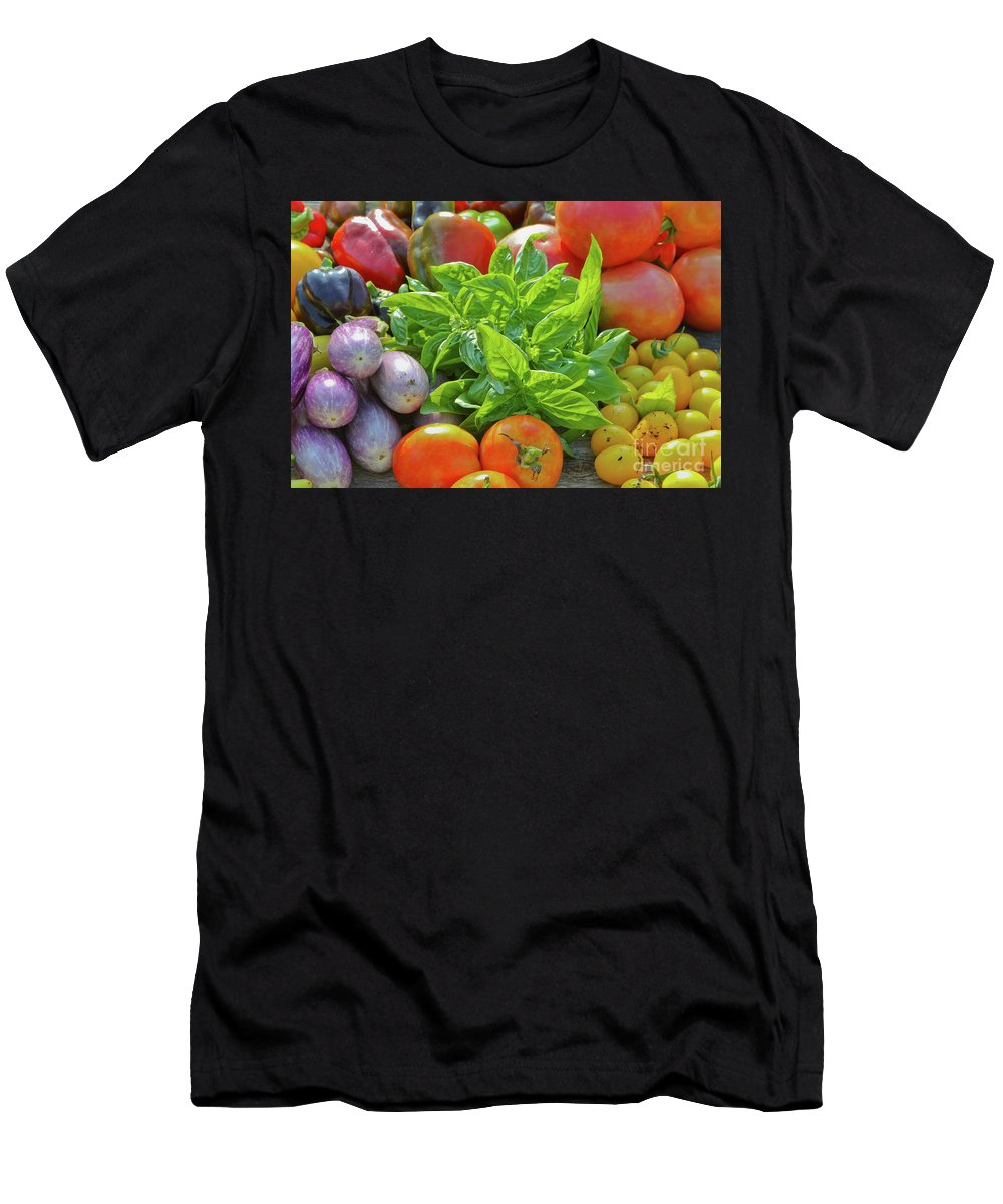 Harvest Men's T-Shirt (Athletic Fit) featuring the photograph Fall Harvest by Wallybird Photography