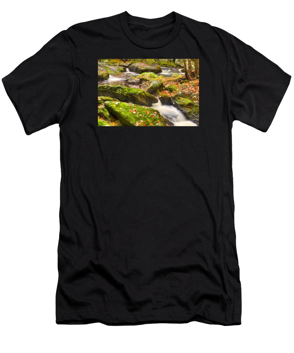Fall Foliage Men's T-Shirt (Athletic Fit) featuring the photograph Fall In Henniker by Prashant Thumma