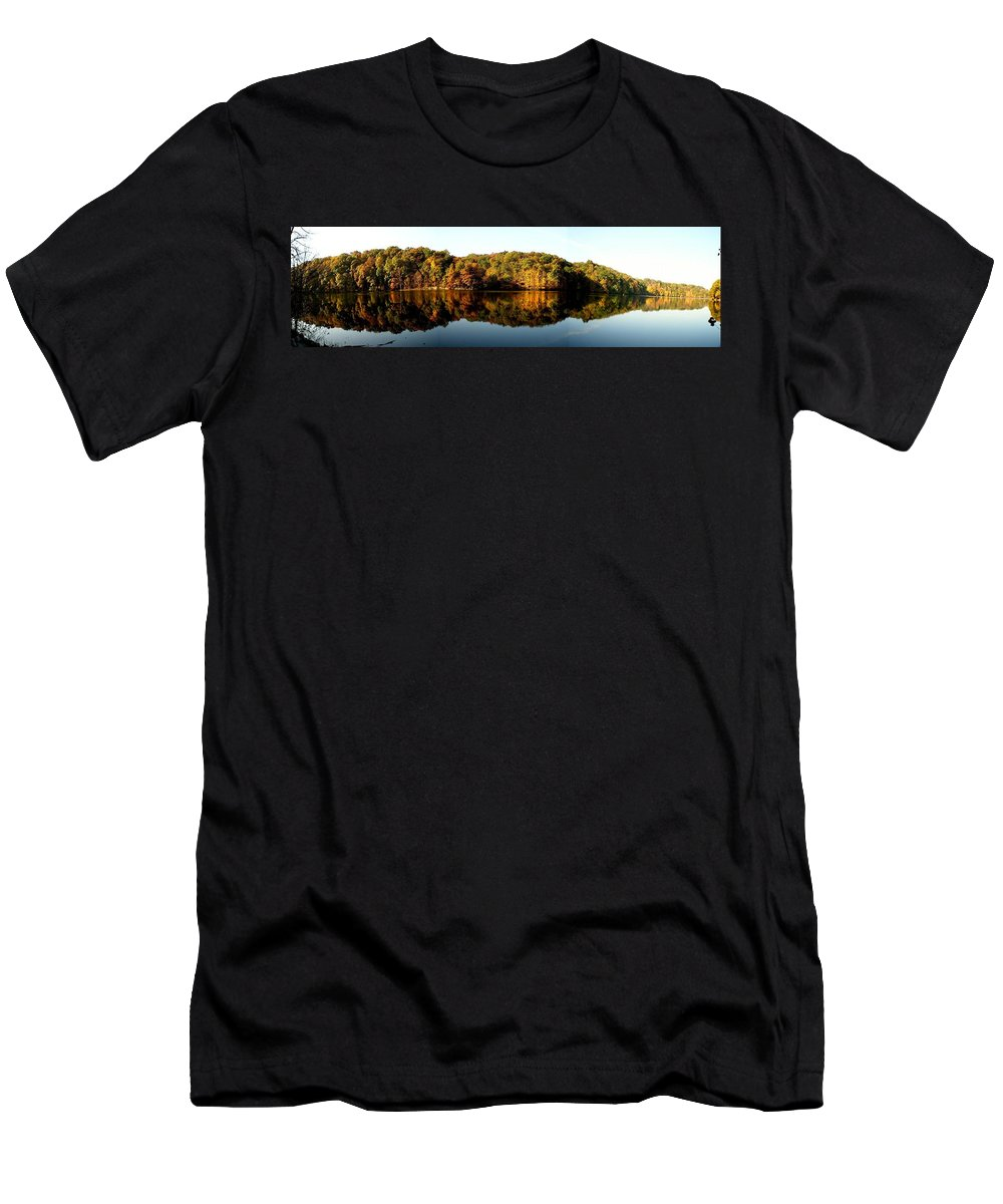 Fall Men's T-Shirt (Athletic Fit) featuring the photograph Fall In Indiana by Carol Milisen