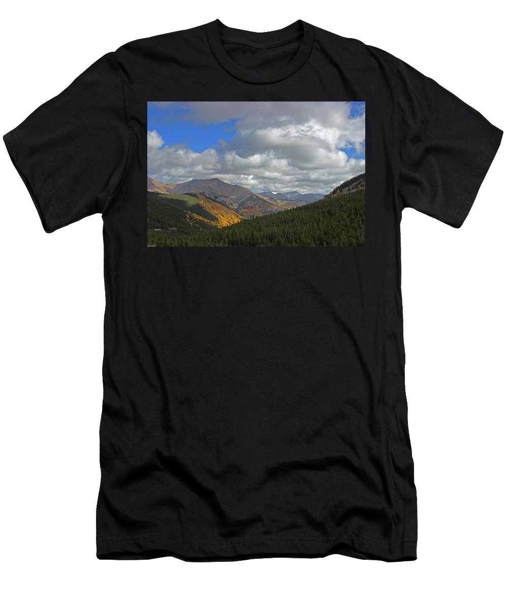 Monarch Pass Men's T-Shirt (Athletic Fit) featuring the photograph Fall On The Pass by Samantha Burrow