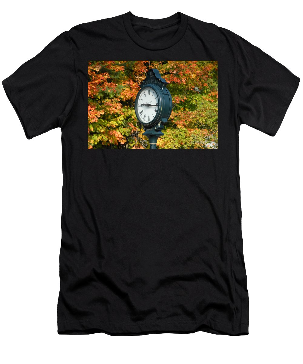 Lake Placid New York Men's T-Shirt (Athletic Fit) featuring the photograph Fall Time by David Lee Thompson
