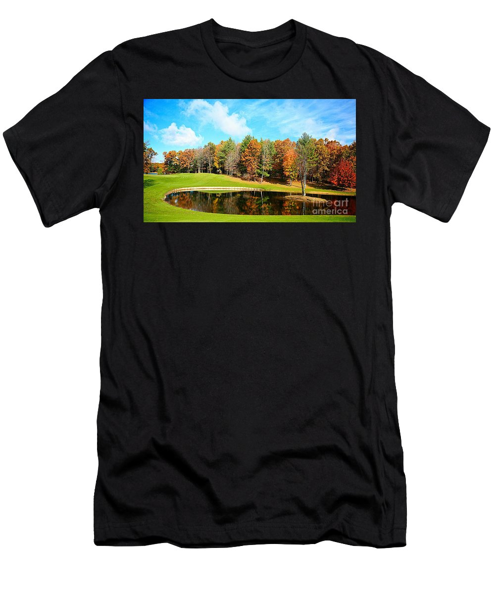 Fall Men's T-Shirt (Athletic Fit) featuring the photograph Fall Time by Robert Pearson