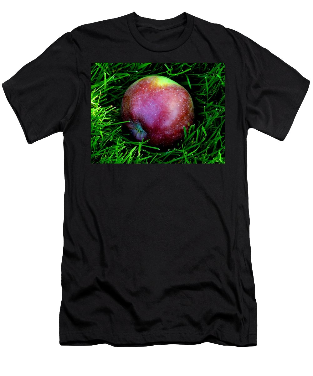 Apple Men's T-Shirt (Athletic Fit) featuring the photograph Fallen Apple by Valerie Ornstein