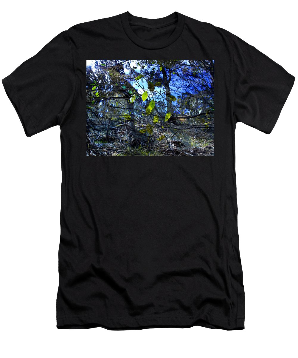Leaves Men's T-Shirt (Athletic Fit) featuring the photograph Falling Leaves by Kelly Jade King