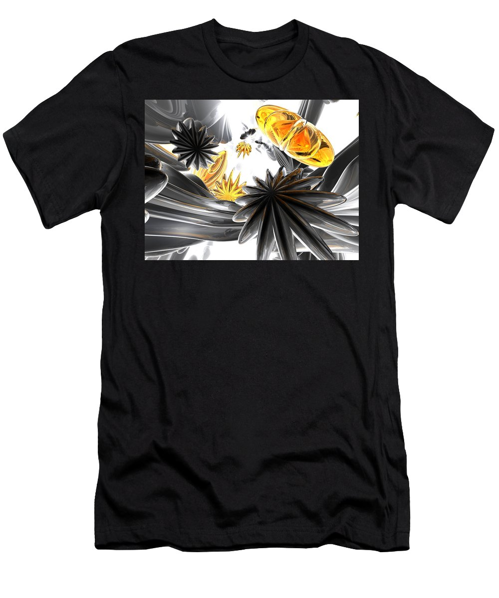 3d Men's T-Shirt (Athletic Fit) featuring the digital art Falling Stars Abstract by Alexander Butler