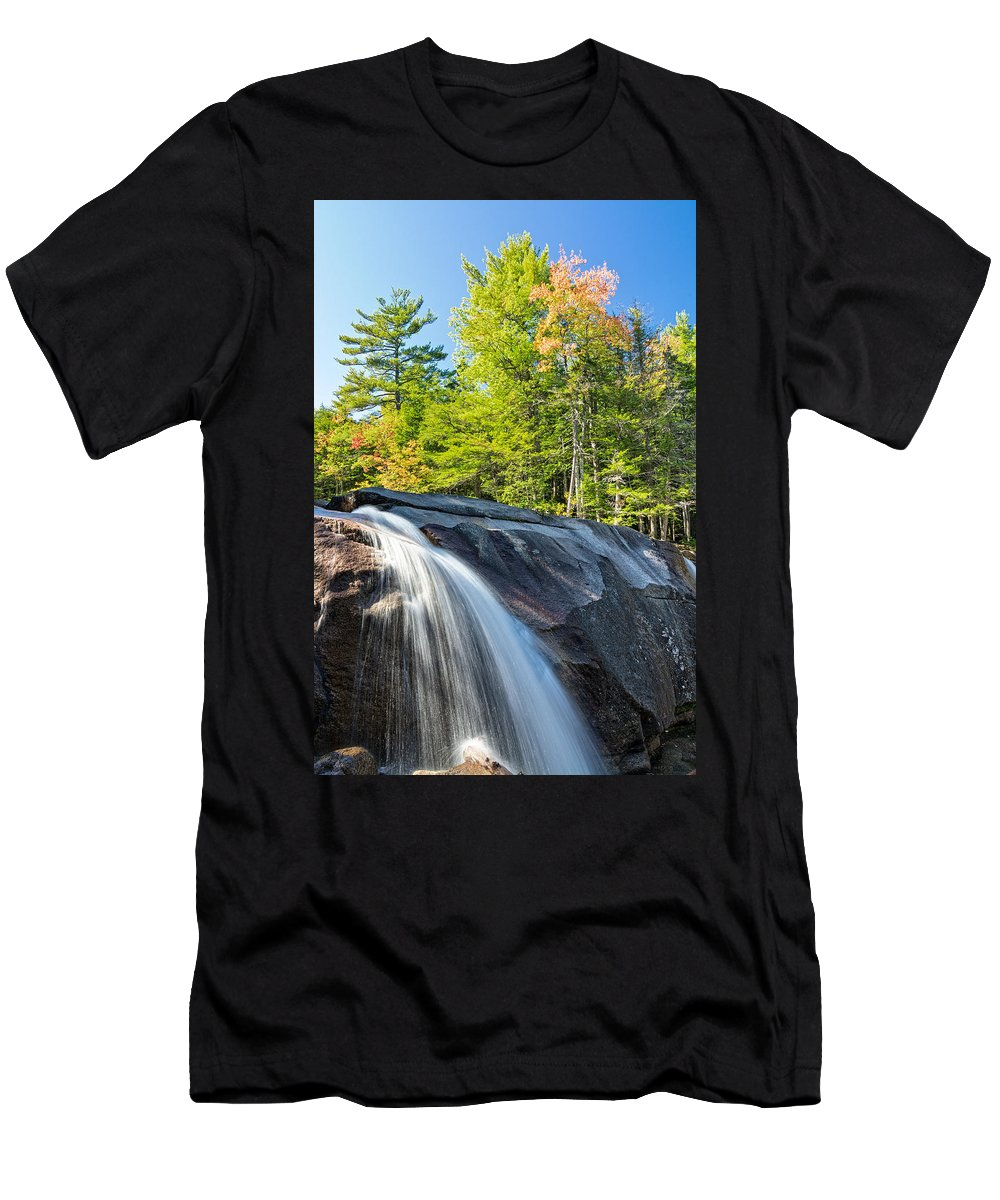 Diana's Baths Nh Men's T-Shirt (Athletic Fit) featuring the photograph Falls Diana's Baths Nh by Michael Hubley