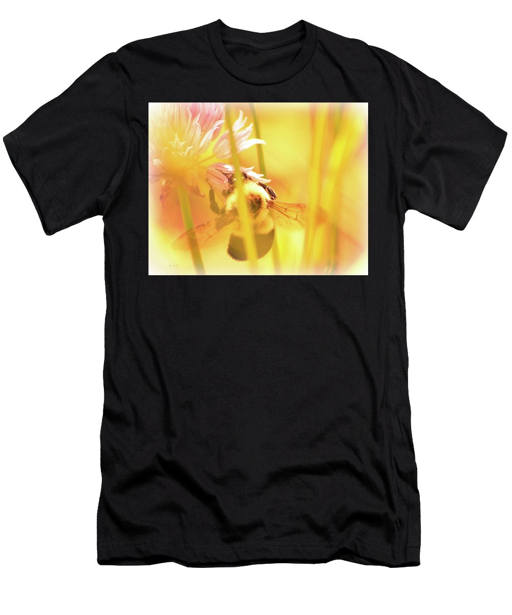 Bees Men's T-Shirt (Athletic Fit) featuring the photograph Fame Is A Bee by Bob Orsillo