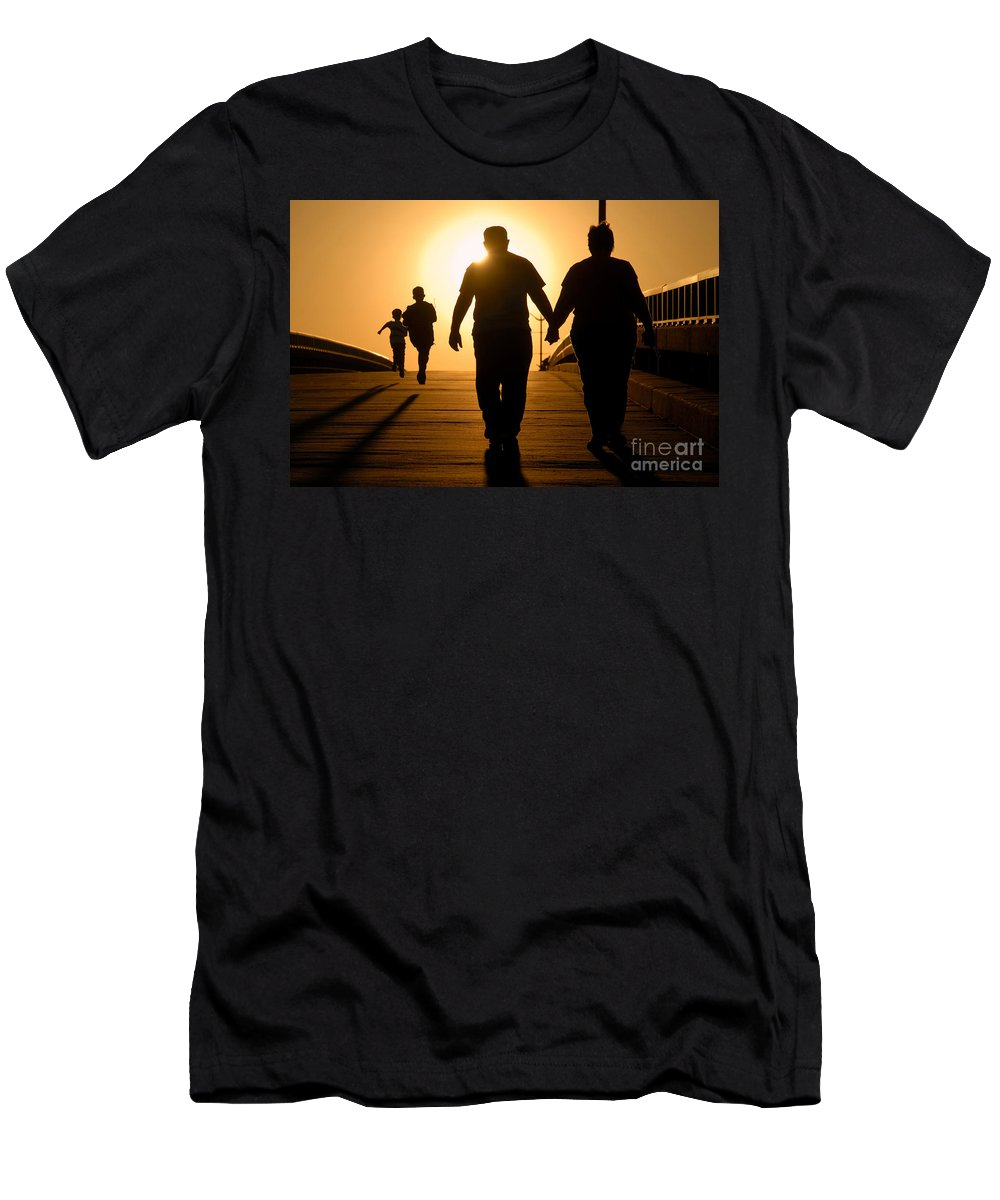 Family Men's T-Shirt (Athletic Fit) featuring the photograph Family by David Lee Thompson