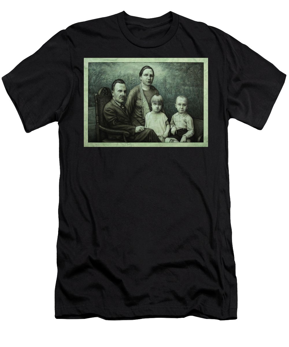 Vintage Men's T-Shirt (Athletic Fit) featuring the painting Family Portrait by James W Johnson