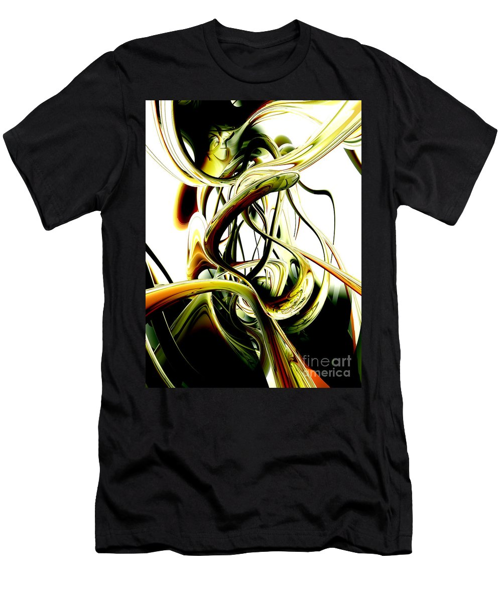 3d Men's T-Shirt (Athletic Fit) featuring the digital art Fanciful Abstract by Alexander Butler
