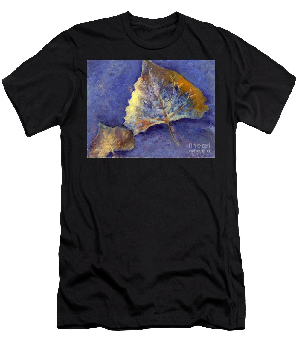 Leaves Men's T-Shirt (Athletic Fit) featuring the painting Fanciful Leaves by Chris Neil Smith