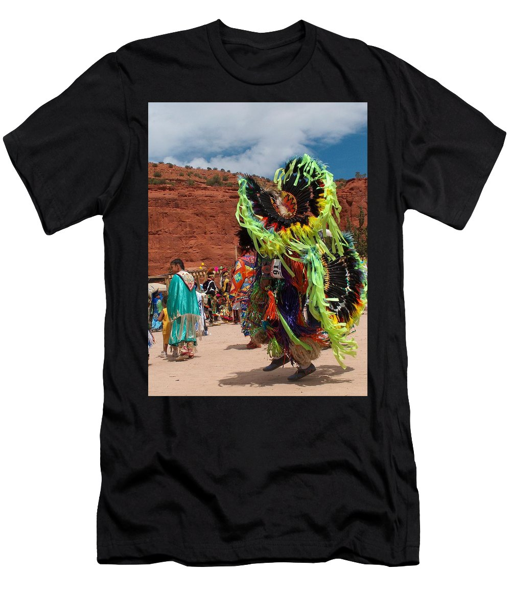 Fancy Dancer Men's T-Shirt (Athletic Fit) featuring the photograph Fancy Dancer by Tim McCarthy
