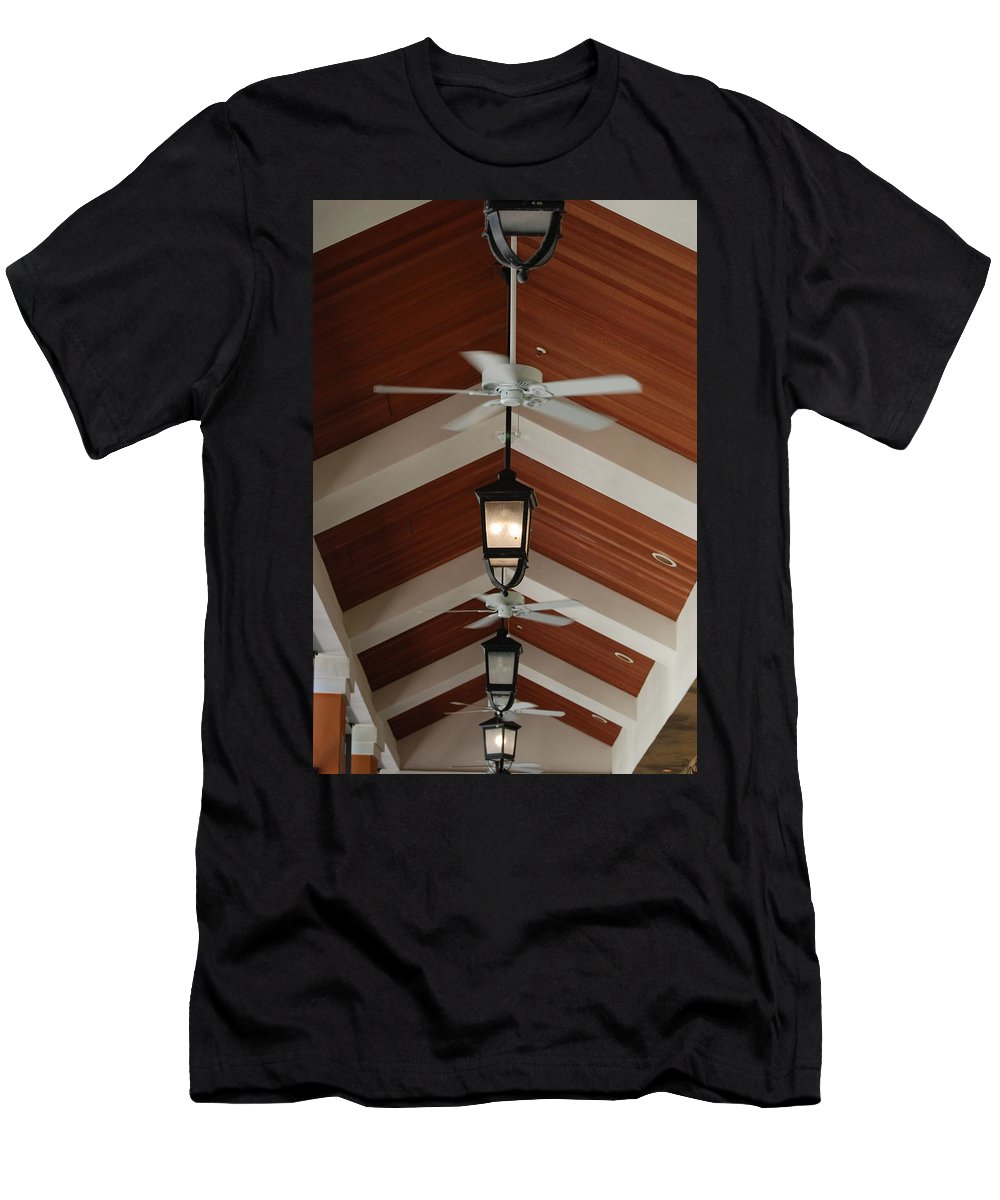 Fans Men's T-Shirt (Athletic Fit) featuring the photograph Fans And Lights by Rob Hans