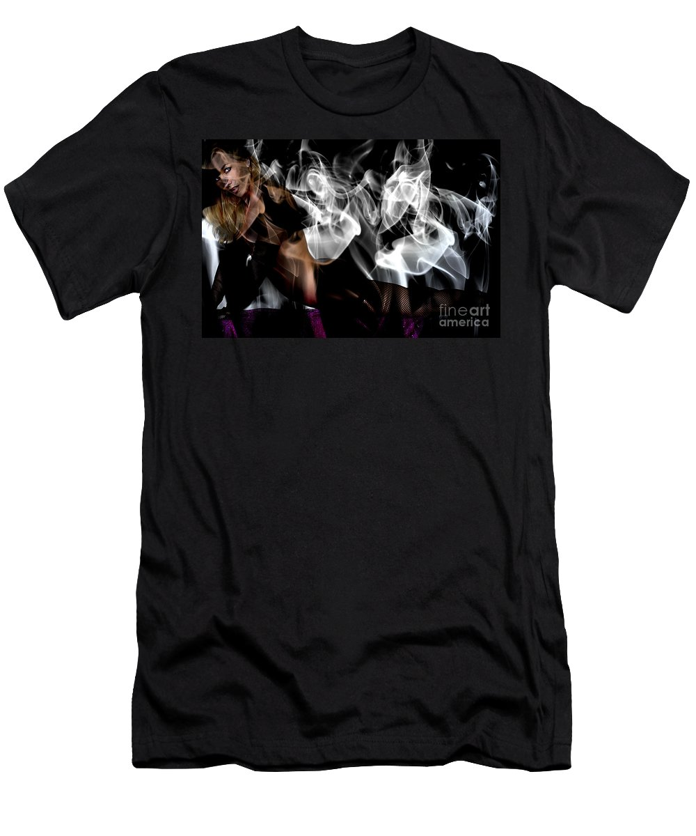 Clay Men's T-Shirt (Athletic Fit) featuring the photograph Fantasies In Smoke I by Clayton Bruster