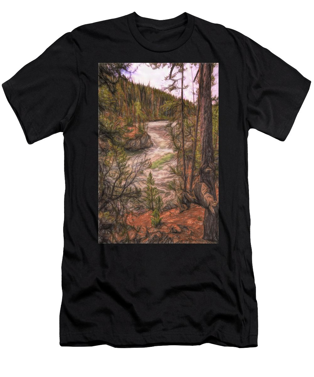 Landscape Men's T-Shirt (Athletic Fit) featuring the photograph Fantasy Land by John M Bailey