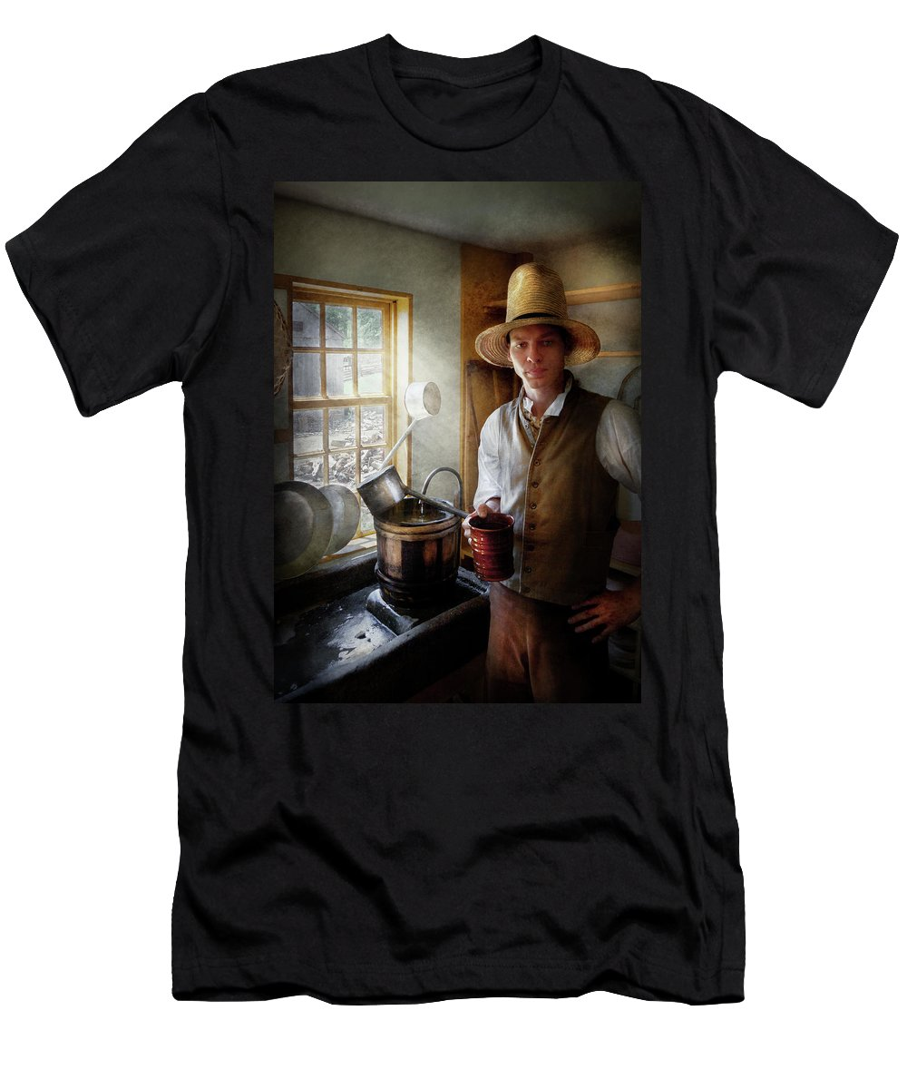 Hdr Men's T-Shirt (Athletic Fit) featuring the photograph Farm - Farmer - The Farmer by Mike Savad