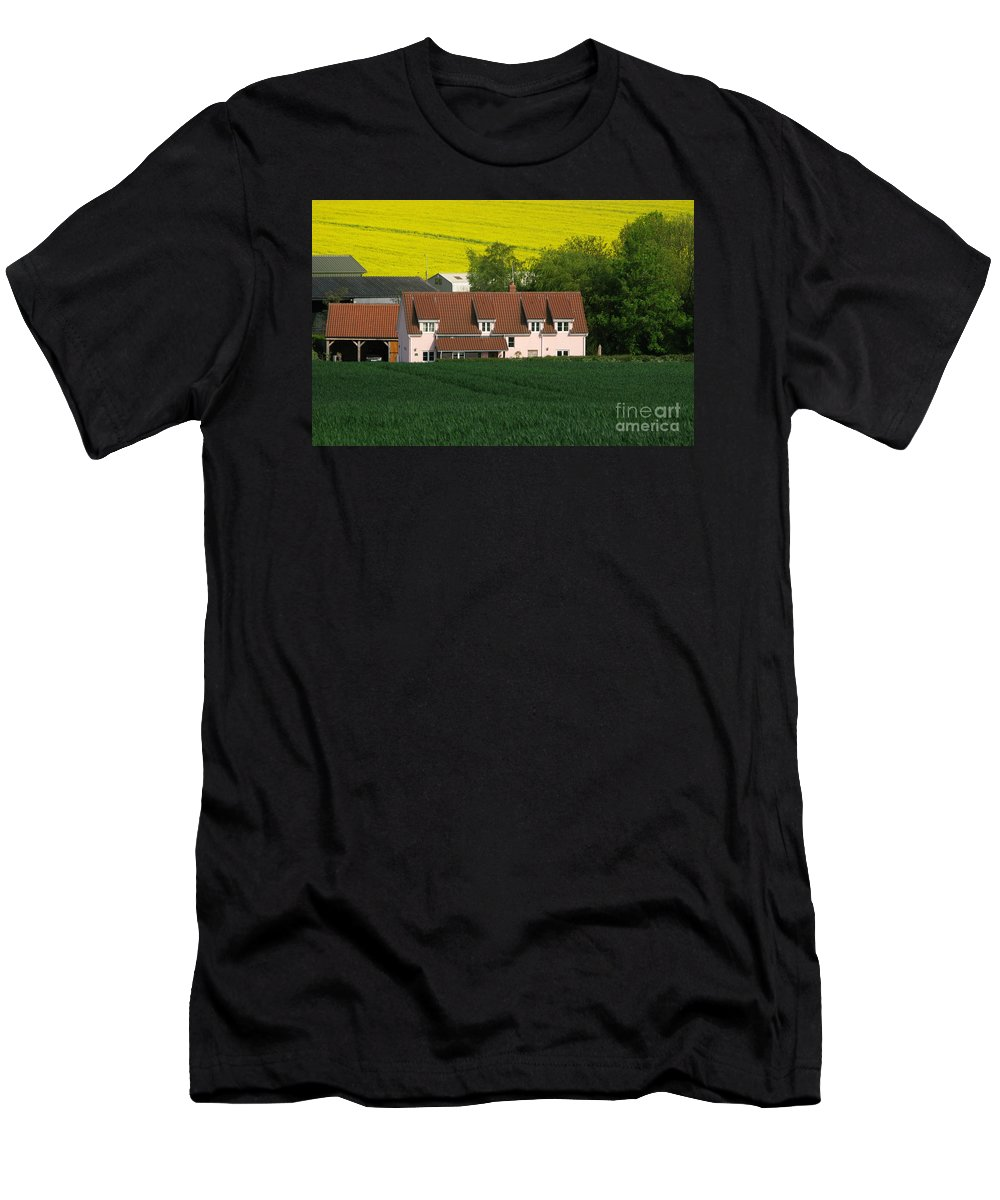 Farm Men's T-Shirt (Athletic Fit) featuring the photograph Farm Fields by Ann Horn
