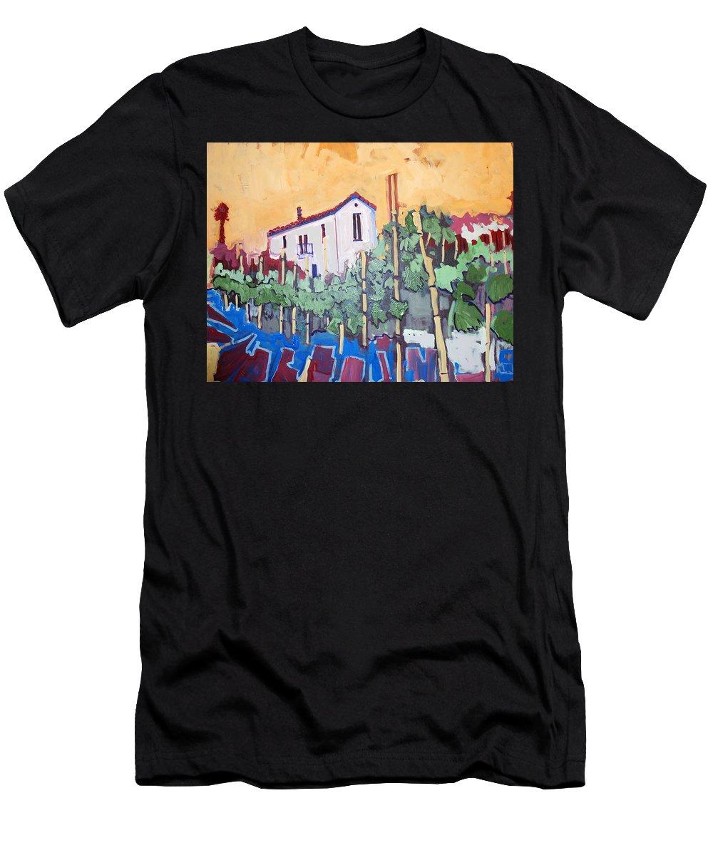 Farm House Men's T-Shirt (Athletic Fit) featuring the painting Farm House by Kurt Hausmann