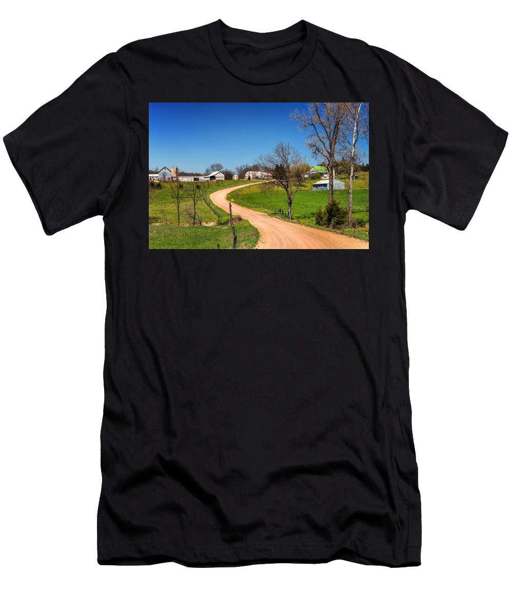 Farm Men's T-Shirt (Athletic Fit) featuring the photograph Farm In Gasconade County Mo_dsc4116 by Greg Kluempers