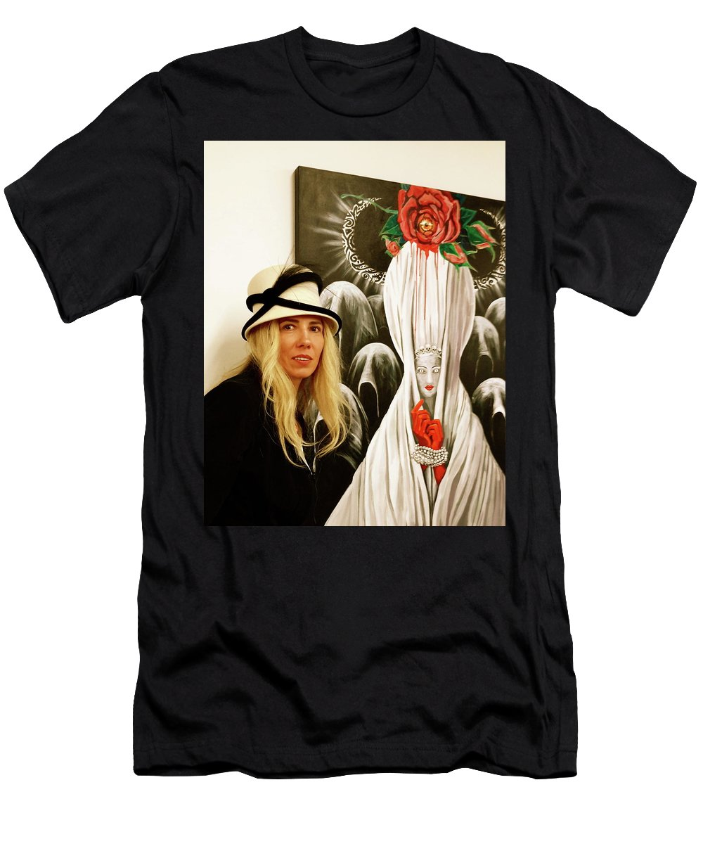 Rose Men's T-Shirt (Athletic Fit) featuring the photograph Fashion Show At Lic Arts Open by Yelena Tylkina