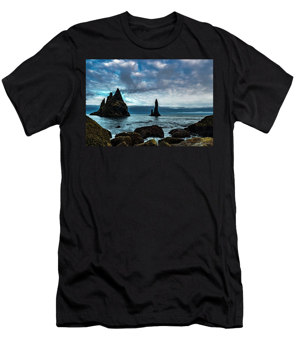 Clouds Men's T-Shirt (Athletic Fit) featuring the photograph Father And Son by Vaughn Bender