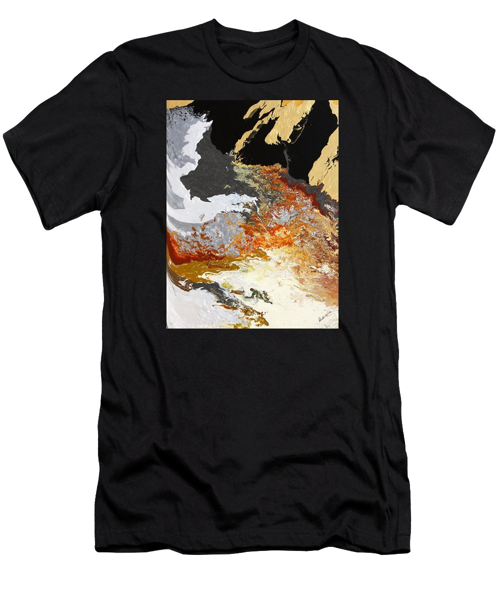 Fusionart Men's T-Shirt (Athletic Fit) featuring the painting Fathom by Ralph White