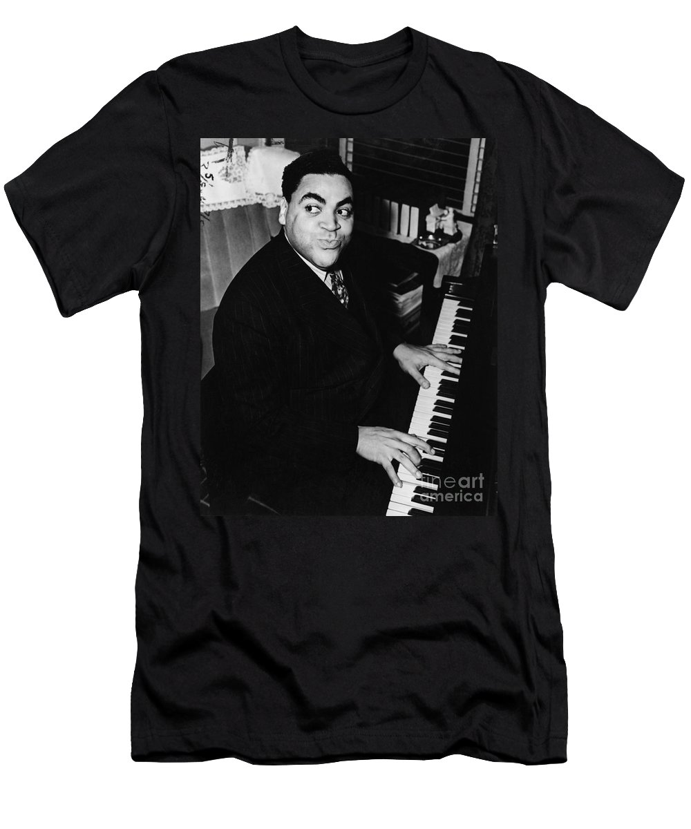 History Men's T-Shirt (Athletic Fit) featuring the photograph Fats Waller, American Composer by Science Source
