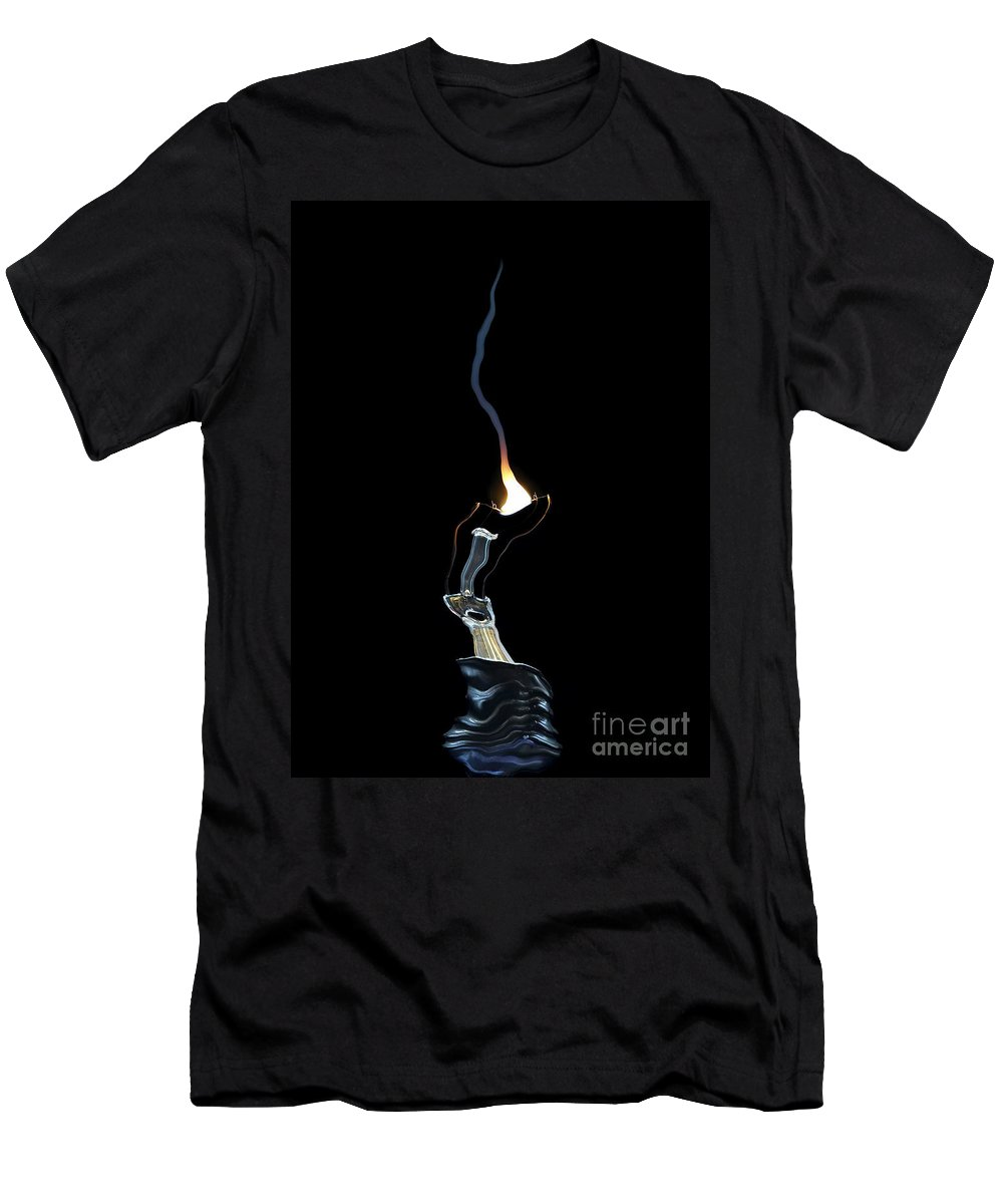 Bulb Men's T-Shirt (Athletic Fit) featuring the digital art Fault by Michal Boubin