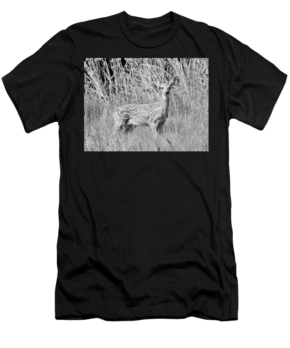 Men's T-Shirt (Athletic Fit) featuring the photograph Fawn by Carl Miller