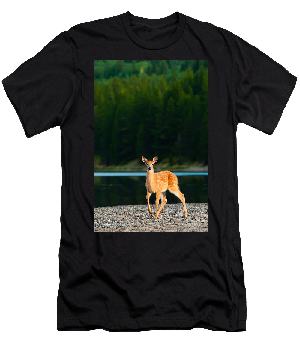 2006 Men's T-Shirt (Athletic Fit) featuring the photograph Fawn by Sebastian Musial