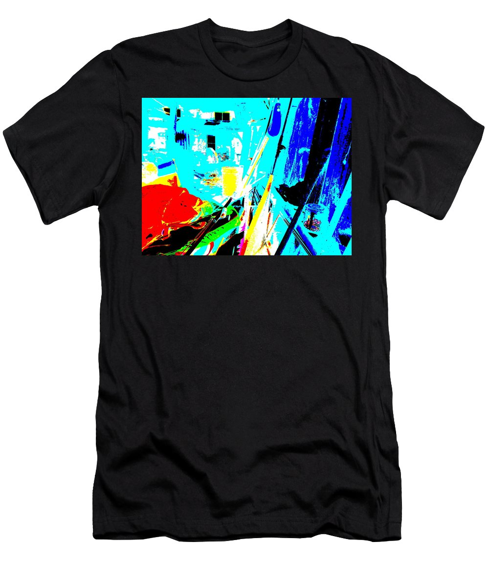 Abstract Men's T-Shirt (Athletic Fit) featuring the photograph Feb 2016 79 by George Ramos