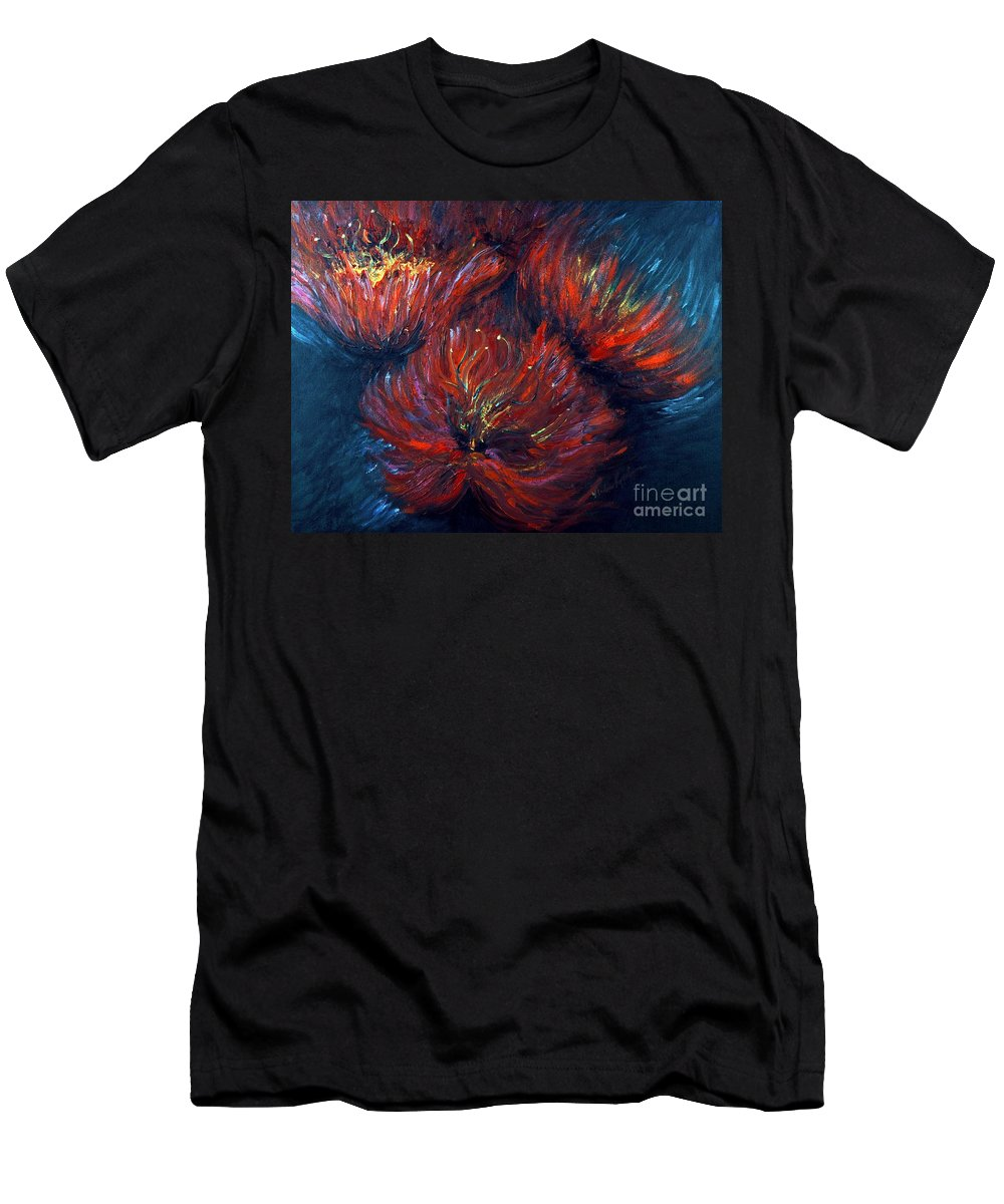 Abstract Men's T-Shirt (Athletic Fit) featuring the painting Fellowship by Nadine Rippelmeyer
