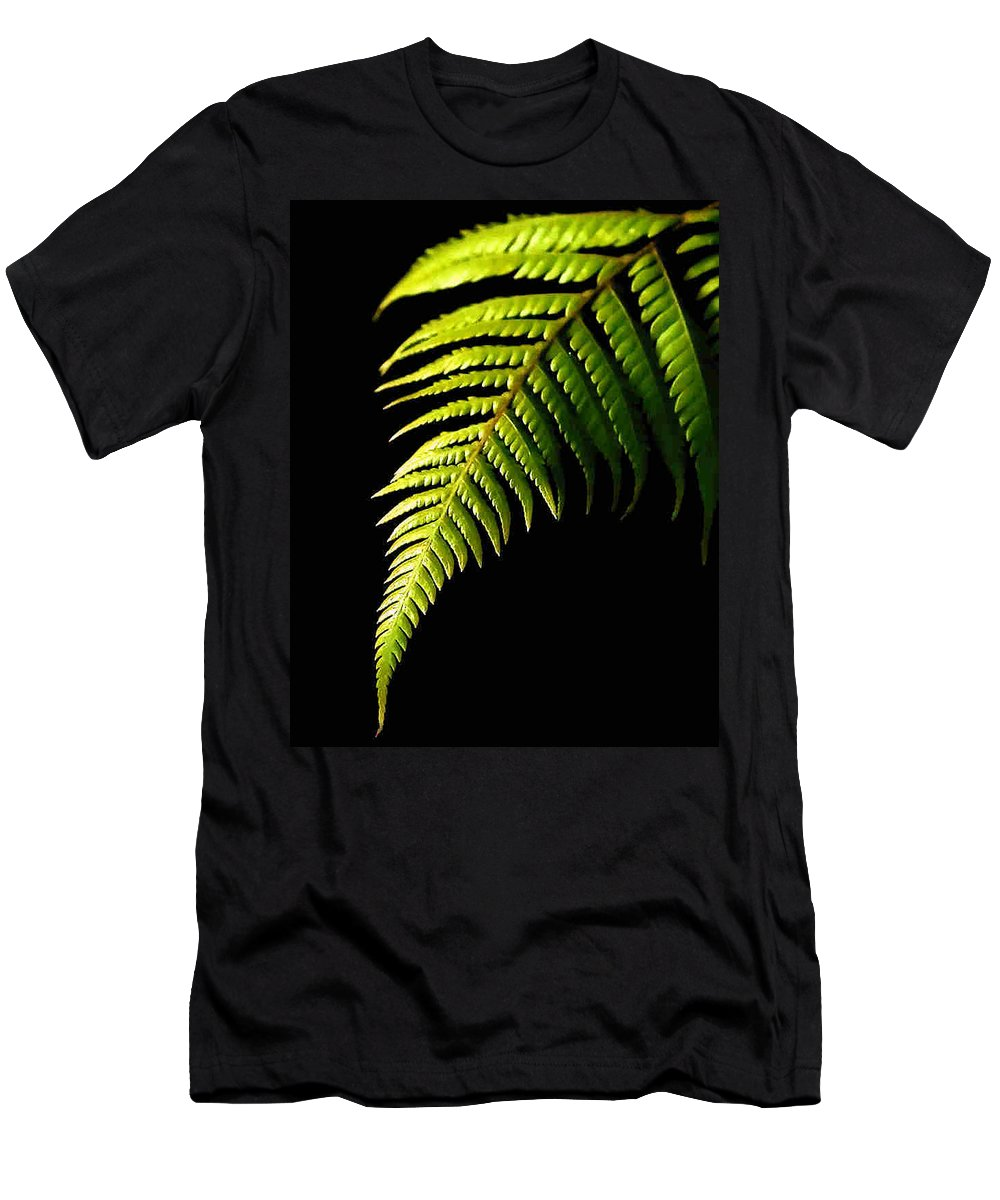 Fern Men's T-Shirt (Athletic Fit) featuring the photograph Fern by Dragica Micki Fortuna